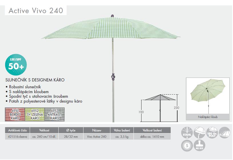 Slunečník Active Vivo 240 Doppler