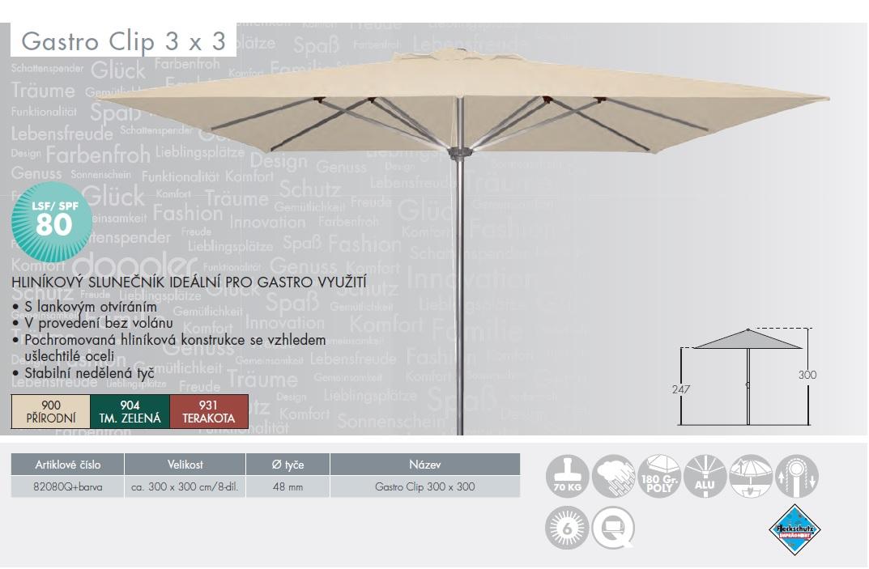 Slunečník Gastro Clip 3x3 DOPPLER