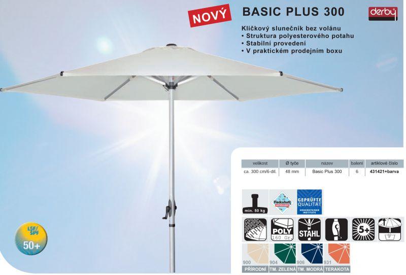 Slunečník Basic Plus II 300 DERBY