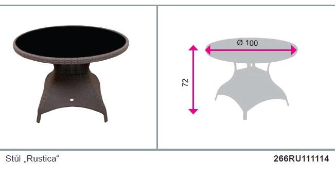 Stůl Rustica kulatý Doppler