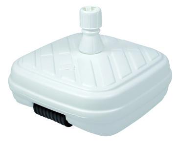 Design plnitelný sokl s kolečky 50kg bílá barva Doppler